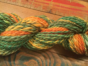 Orange and Green, Merino Yarn