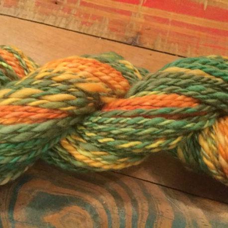 Orange and Green, Merino Yarn