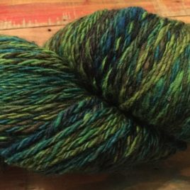 Shades of Green | wool | variegated | green | 3 ply | BFL | spun z/s | worsted weight